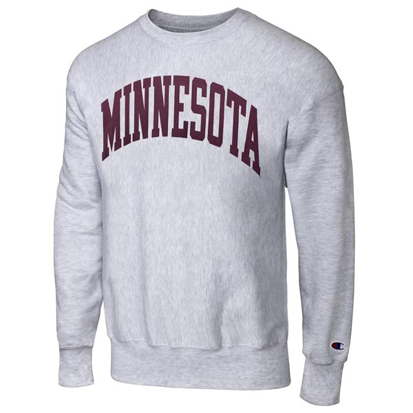 Champion Arched Sweatshirt Minnesota Weave Of Reverse University UUwIBxv5rq