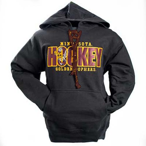 MV Sport Minnesota Golden Gophers Hockey Lace Up Twill Hoodie ... 4279040c6