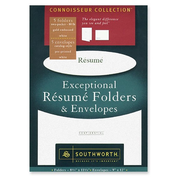 southworth exceptional resume folders and envelopes university of