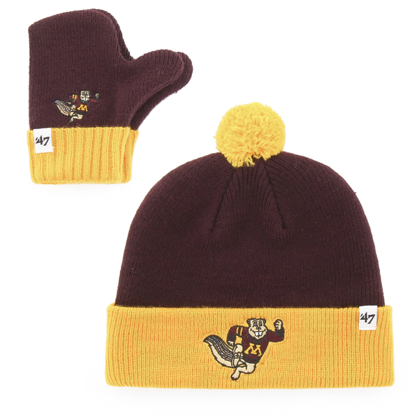 8ea969b9549 ... best 47 brand youth university of minnesota knit hat and mittens 99684  94454