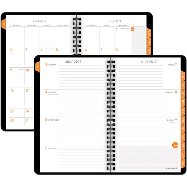 at a glance academic weekly monthly planner 5 5x9 university of