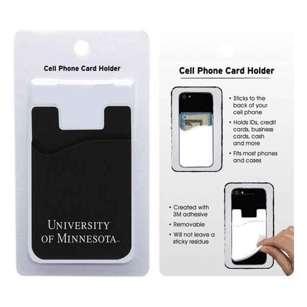 silicone university of minnesota cell phone card holder - Cell Phone Business Card Holder