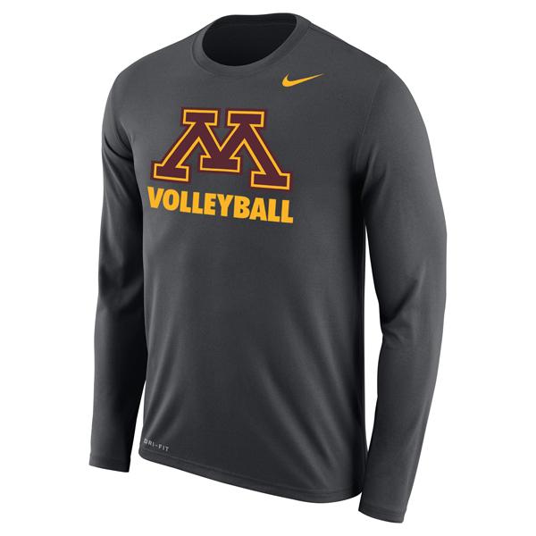 478fb9406b Nike Minnesota M Volleyball Long Sleeve T Shirt | University of ...