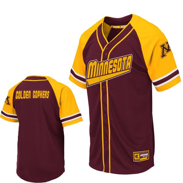 low priced b7100 9b73d Colosseum Minnesota M Golden Gophers Baseball Jersey ...