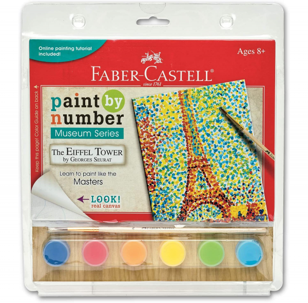 faber-castell eiffel tower paintnumbers kit