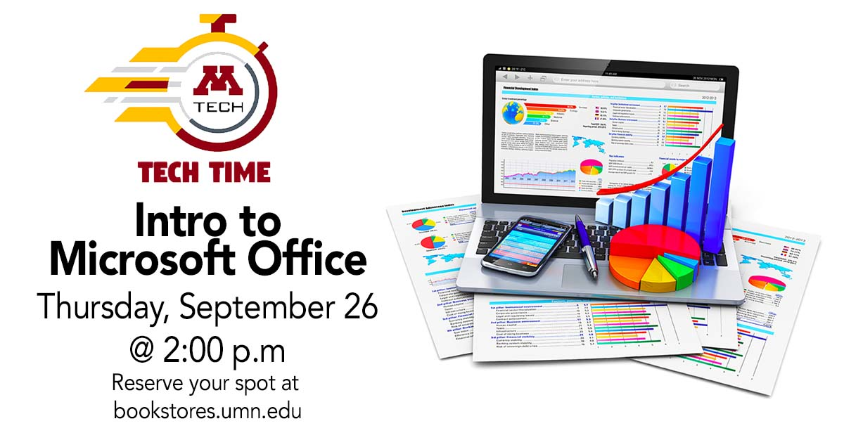 Tech Time: Intro to Microsoft Office on Thursday, September 26 at 2:00 PM