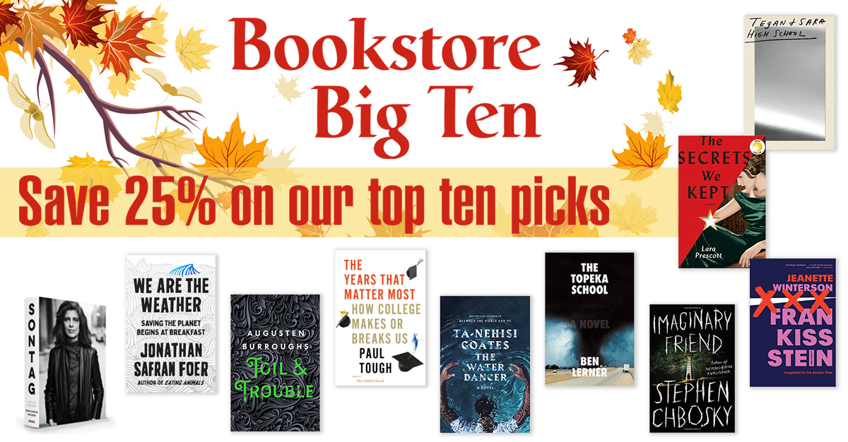 Save 25% on our top 10 book picks for September