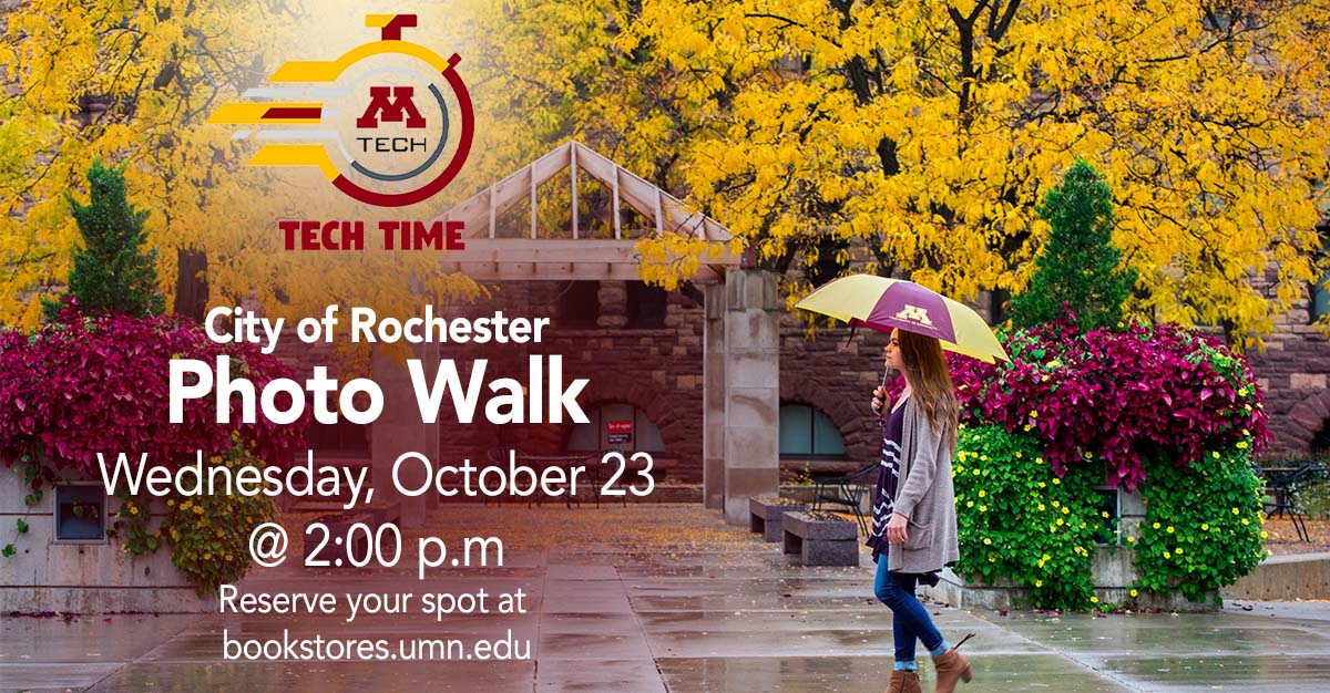 Tech Time: Rochester Photowalk on Wednesday, October 23 at 2:00 PM
