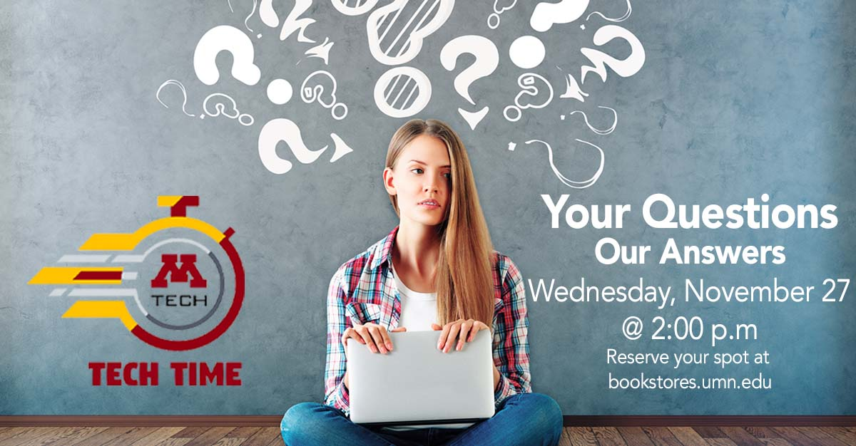 Tech Time: Your Questions, Our Answers on Wednesday, November 27 at 2:00 PM