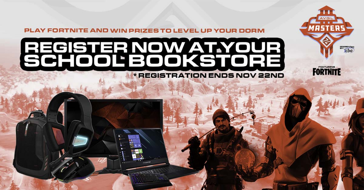 Register for the AVGL Masters Gaming Series to win great gear.