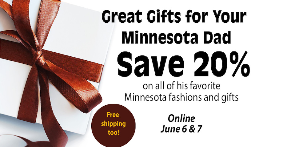Save 20% on dads favorite maroon and gold