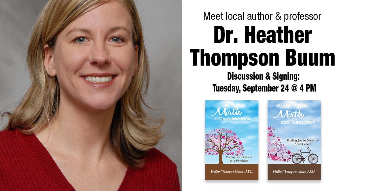 Meet author Heather Thompson Buum on Sept. 24 at 4:00 p.m.
